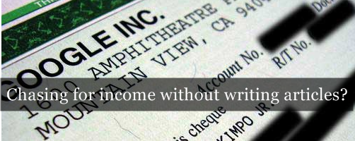 """""""A"""" for Articles, not Adsense in blogging"""