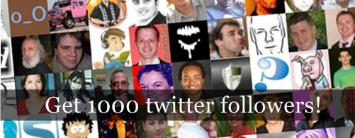 Get 1000 twitter followers without even following 1000 people