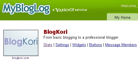 mybloglog community of blogkori