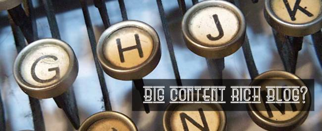 How to build up a big content rich blog?
