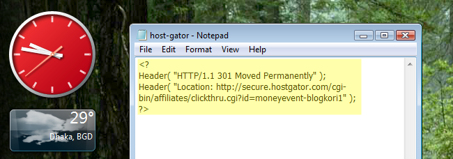 cloak affiliate links using PHP script