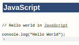 Hello World program in JavaScript