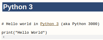 Hello World program in Python